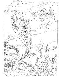 mermaid coloring page free bjl coloring mermaids ocean misc