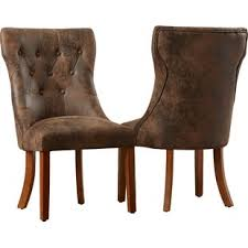 Dining Leather Chair Faux Leather Dining Chairs Joss