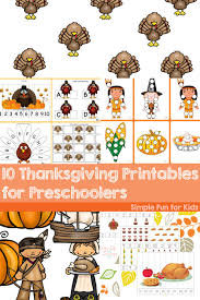 10 thanksgiving printables for preschoolers simple for