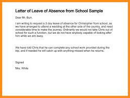 Sle Letter Of Absence Due To Absence Excuse Formal Excuse Letter For Being Absence Excuse