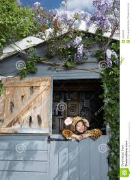 jaguar costume smiling boy in jaguar costume in shed stock image image 33906539