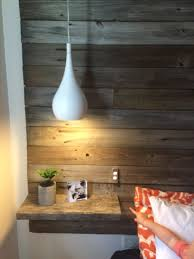 diy homemade recycled timber headboard with floating bedsides diy homemade recycled timber headboard with floating bedsides bedside pendant lights