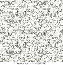 vector cute zentangle owl illustration ornate stock vector