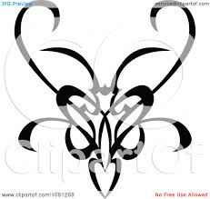 clipart black and white tribal swirl butterfly tattoo design