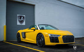 Audi R8 Yellow - 2017 audi r8 spyder lease only la leasing