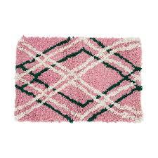 light pink wool rug archive new york pre order colotenango x shag rug light pink
