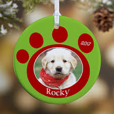personalized photo ornaments pet memorial pawprint