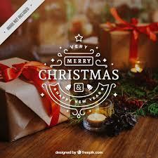 decorative merry sticker vector free