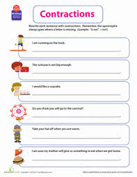 get into grammar contractions worksheet education com