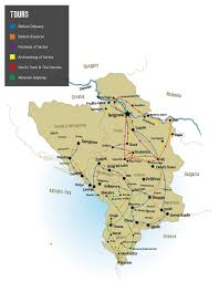 Map Of Serbia Balkans Tours Small Group And Tailormade Tours To Serbia