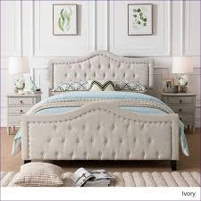 bedroom white velvet tufted bed bedroom sets with mattress