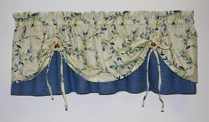Vintage Green Curtains Vintage Vine Print Versa Tie Valance Window Curtain Window Toppers