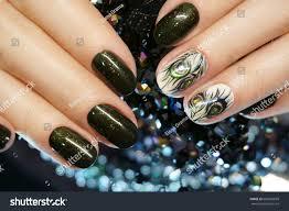 beautiful nail art manicure nail designs stock photo 600269699