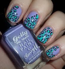 Blue Leopard Print 60 Latest Leopard Print Nail Art Designs