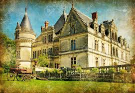 old french castle artwork in painting style stock photo picture old french castle artwork in painting style stock photo 6971047