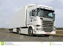 scania truck white scania truck editorial photo image 38265711