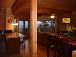 log home open floor plans peaceful log cabin getaway on top of lookout homeaway rising fawn