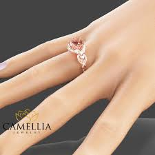 gold and morganite ring 14k gold engagement ring gold morganite ring filigree