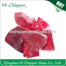 red colored decorative large glass landscaping rocks buy colored