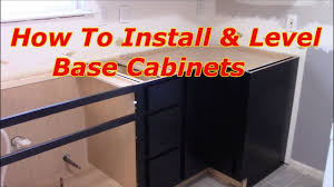 installing kitchen base cabinets how to install base kitchen cabinets and save 1000 00 s of dollars