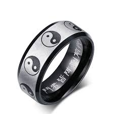 ring wind ornaments bagua rings stainless steel