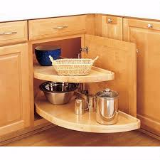 Kitchen Blind Corner Solutions Blind Corner Half Moon Wood 2 Shelf Lazy Susans Rev A Shelf 4wls
