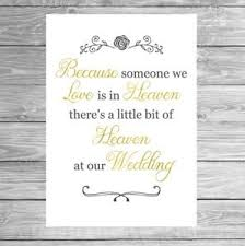 in loving memory wedding wedding in loving memory sign memorial poster glossy print a4