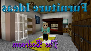 bedroom furniture in minecraft house design and planning