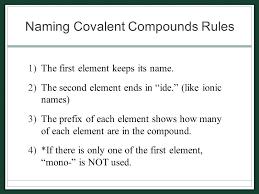 naming binary molecular compounds did you ever wonder u2026 u2026what the