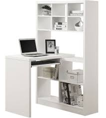 Crate And Barrel Computer Desk by Desk With Bookcase White Roselawnlutheran
