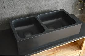 granite kitchen sinks uk 900 pure black granite stone double bowl kitchen basin sink