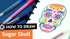 how to draw a sugar skull sea lemon youtube
