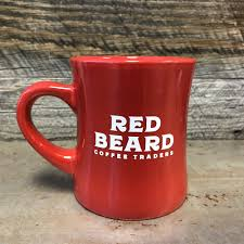 Coolest Coffe Mugs Red Beard Face Damn Good Coffee Diner Mug Red Beard Coffee Traders