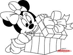mickey and minnie christmas coloring pages with eson me