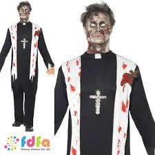 priest halloween costume halloween zombie evil bloodied priest vicar 38