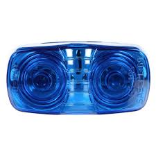 truck lite marker lights truck lite 26302b blue rectangular permastat marker clearance light