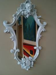 One Of A Kind Home Decor Gloss White Skull Ornate Mirror One Of A Kind Tattoo Goth Baroque