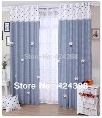 boys bedroom curtains modern rustic window curtains blue white stripe printed cloth child