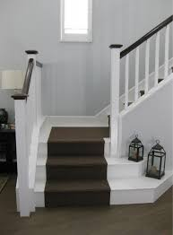scrap ali ever after white painted laminate stairs with carpet