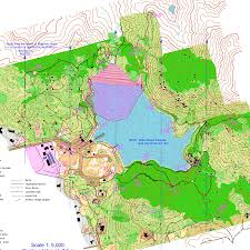 Declination Map Lake Poway Score O June 3rd 2006 Orienteering Map From San