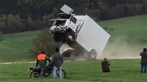 volvo trucks germany driver seriously injured in truck barrier crash test gone bad