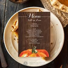 fall menu template printable wood rustic menu digital