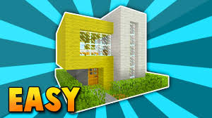 minecraft small easy modern house tutotrial xbox360 ps3 xboxone