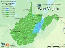 Map Of Wv West Virginia Plant Hardiness Zone Map U2022 Mapsof Net