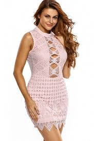 light pink bodycon dress light pink cutout lace backless bodycon dress 031139 pink