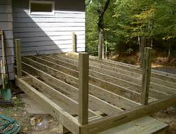 installing deck railing posts on outside of deck home design ideas