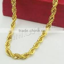 necklace gold chain design images Brass cable link necklace chain jewelry gold chain dubai new gold jpg