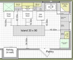 kitchen island spacing kitchen endearing kitchen plans with island planning layout