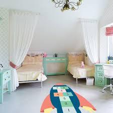 sol chambre enfant sticker de sol marelle fusée pour la décoration des chambres d enfant