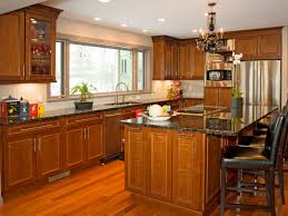 brown kitchen cabinet refacing how to build floating display